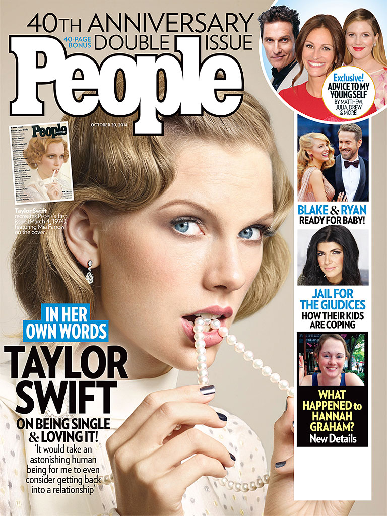 Taylor Swift Covers PEOPLE Magazine for 40th Anniversary