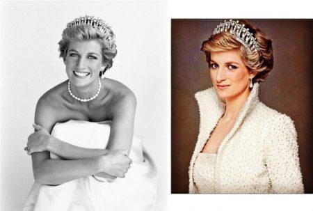 princess diana wearing pearls