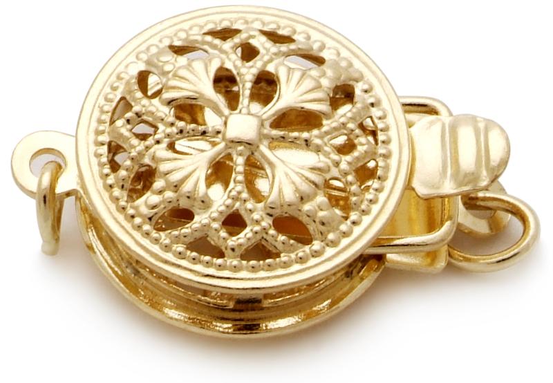 Halskette mit goldfarbenen, 10.1-14.6mm großen Südseeperlen in AA-Qualität , 18-Zoll
