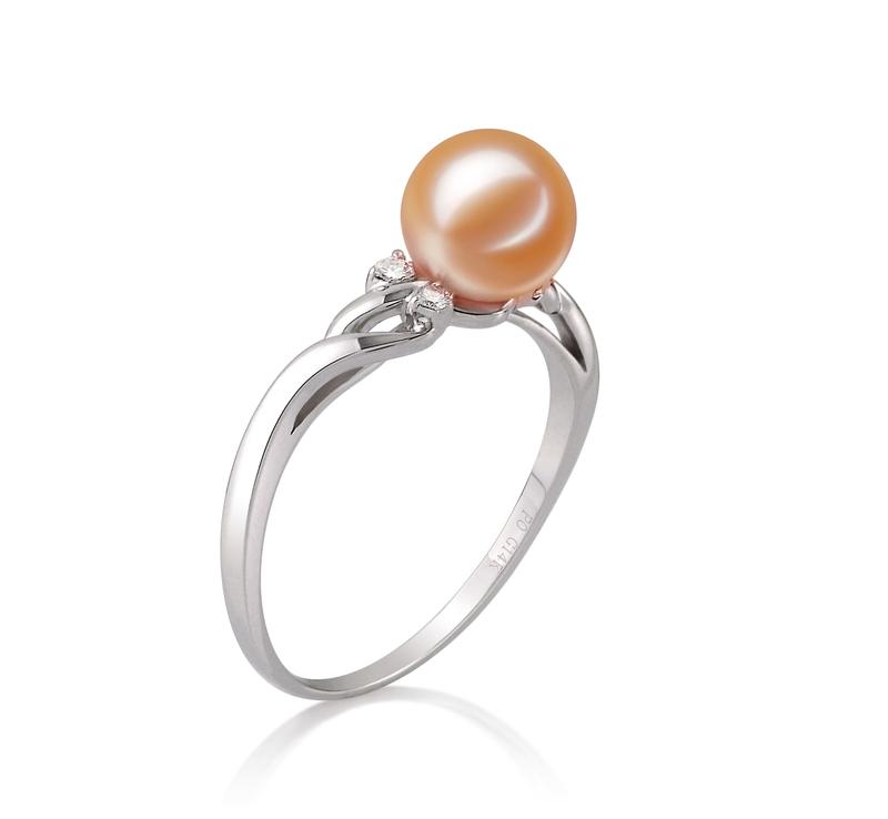 Ring mit rosafarbenen, 6-7mm großen Süßwasserperlen in AAAA-Qualität , Andrea