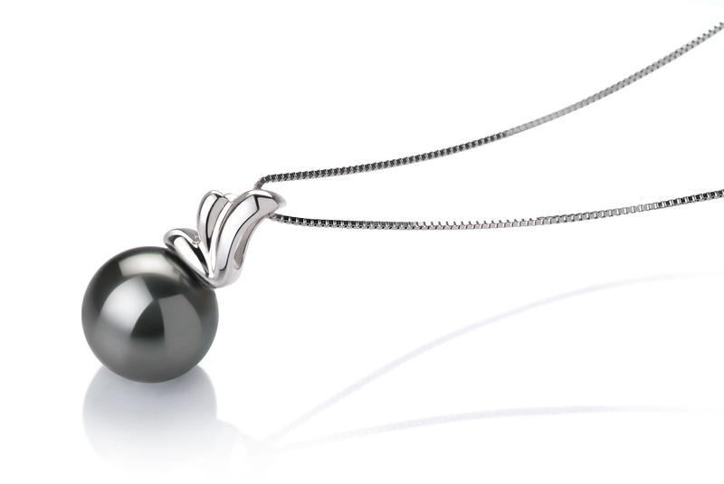 PearlsOnly - Anhänger mit schwarzen, 10-10.5mm großen Tihitianischen Perlen in AAA-Qualität , Antonett