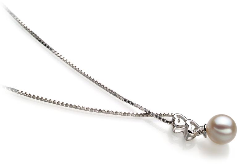 Anhänger mit weißen, 6-7mm großen Janischen Akoya Perlen in AA-Qualität , Camilla