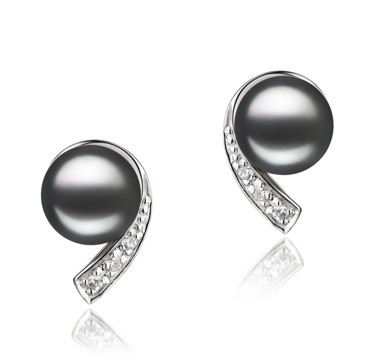 7-8mm AA-Qualität Süßwasser Perlen Set in Claudia Schwarz