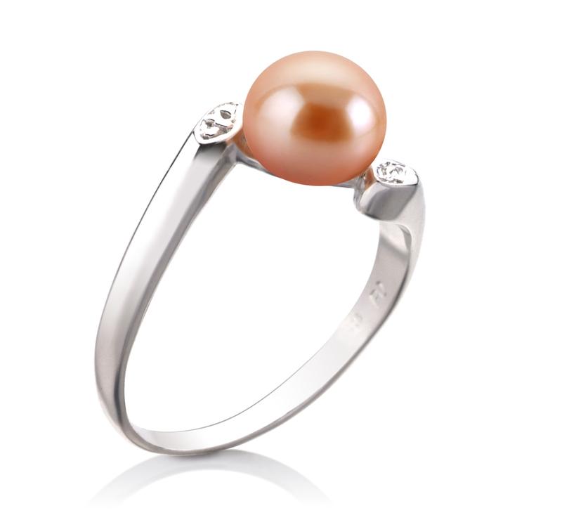 PearlsOnly - Ring mit rosafarbenen, 6-7mm großen Süßwasserperlen in AAA-Qualität , Dana