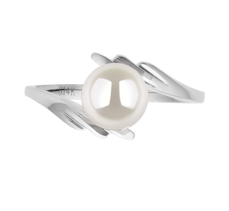PearlsOnly - Ring mit weißen, 6-7mm großen Janischen Akoya Perlen in AAA-Qualität , Daron