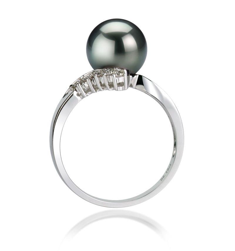 8-9mm AAA-Qualität Tahitisch Perlenringe in Esther Schwarz