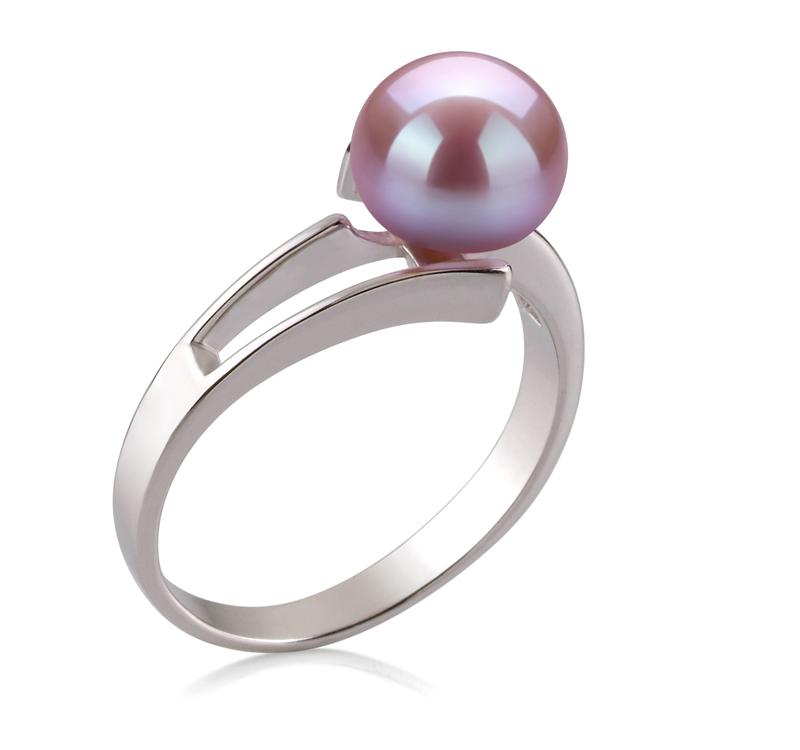 PearlsOnly - Ring mit lavendelfarbenen, 7-8mm großen Süßwasserperlen in AAA-Qualität , Jelena
