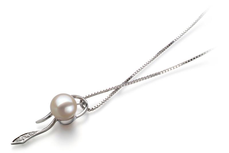 7-8mm AAAA-Qualität Süßwasser Perlenanhänger in Jennifer Weiß