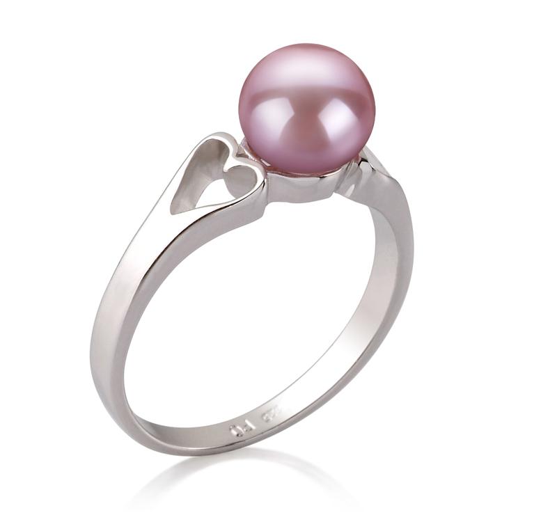 PearlsOnly - Ring mit lavendelfarbenen, 6-7mm großen Süßwasserperlen in AA-Qualität , Jessica