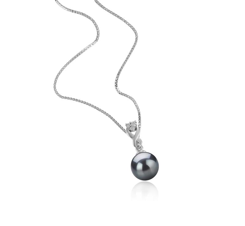 8-9mm AAAA-Qualität Süßwasser Perlenanhänger in Kendra Schwarz