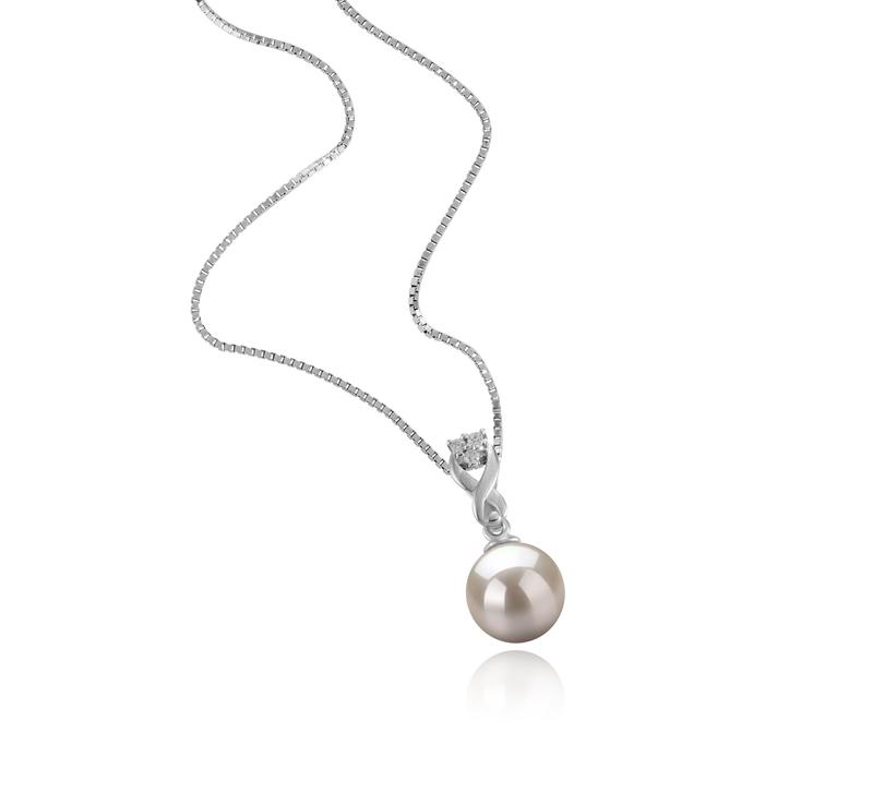 8-9mm AAAA-Qualität Süßwasser Perlenanhänger in Kendra Weiß