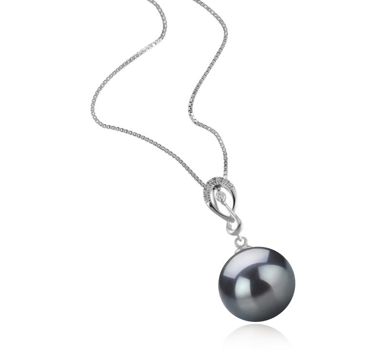 10-11mm AAA-Qualität Tahitisch Perlenanhänger in Lena Schwarz