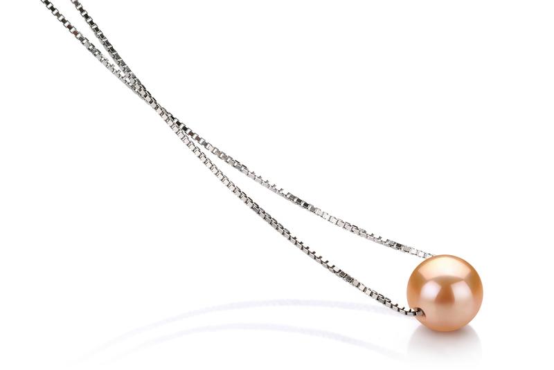 8-9mm AA-Qualität Süßwasser Perlenanhänger in Madeleine Rosa