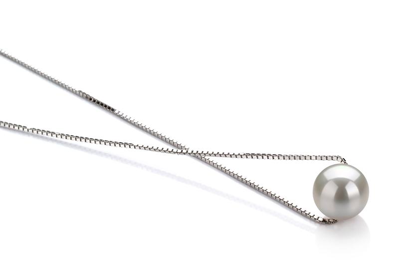 8-9mm AA-Qualität Süßwasser Perlenanhänger in Madeleine Weiß