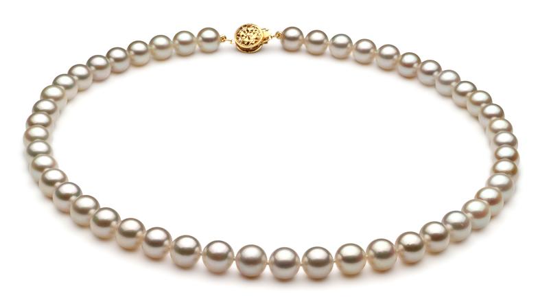 PearlsOnly - Set mit weißer, 7-7.5mm großer Japanischer Akoya Perle in AA-Qualität , Marisol