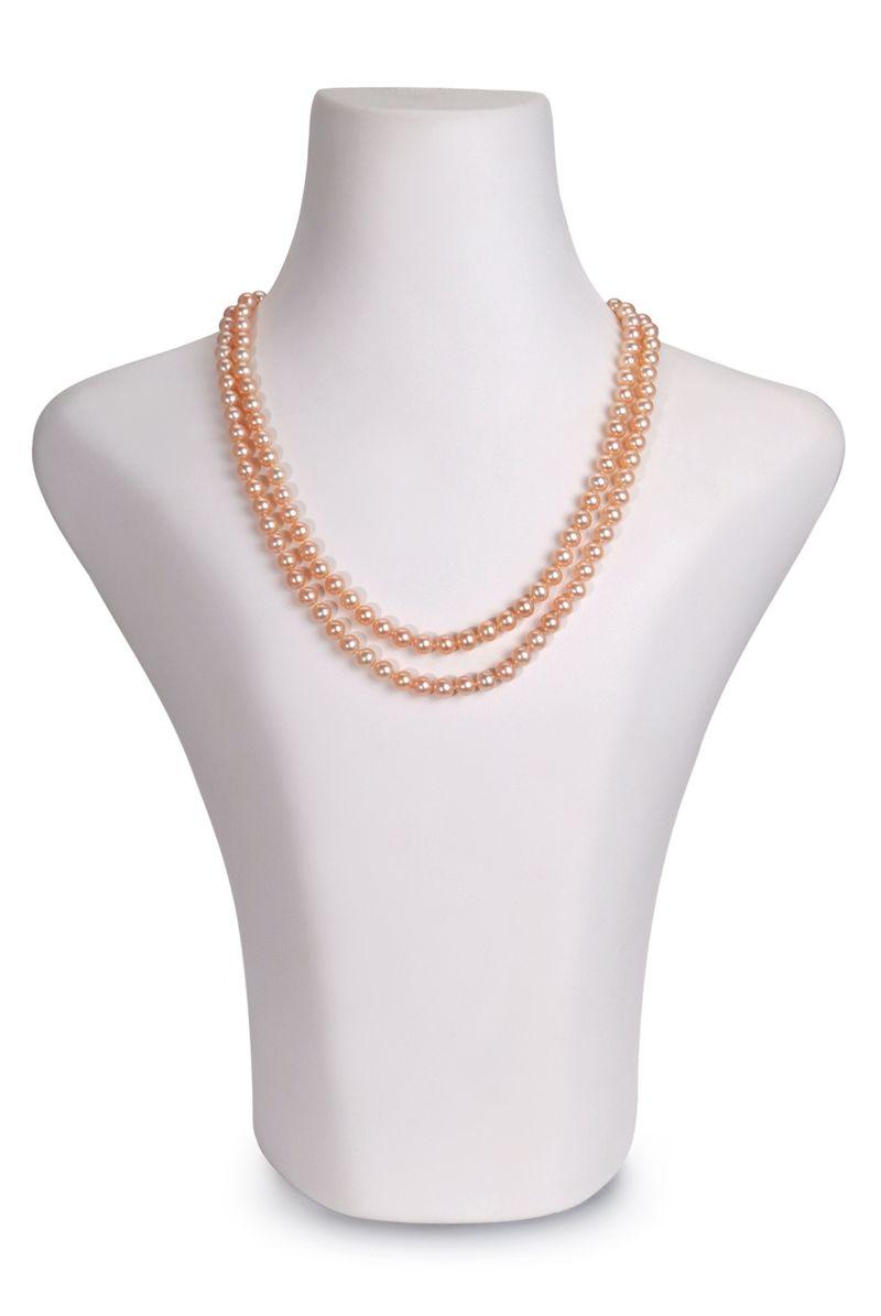 PearlsOnly - Halskette mit rosafarbenen, 6-7mm großen Süßwasserperlen in AAA-Qualität , Marla
