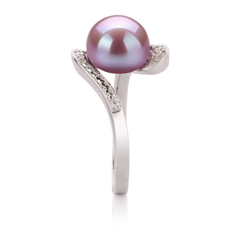 PearlsOnly - Ring mit lavendelfarbenen, 9-10mm großen Süßwasserperlen in AA-Qualität , Marlene