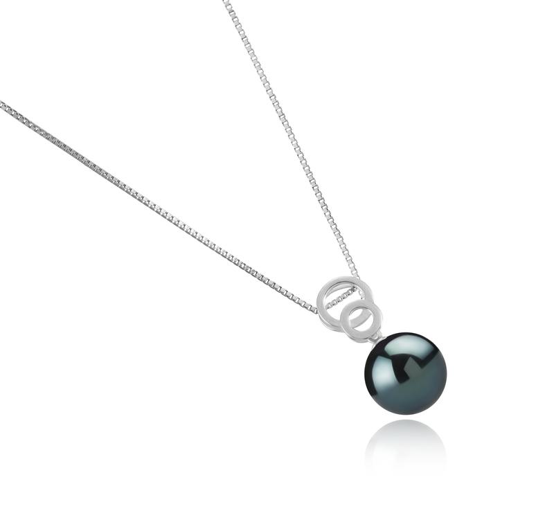 Anhänger mit schwarzen, 12-13mm großen Tihitianischen Perlen in AAA-Qualität , Marlo