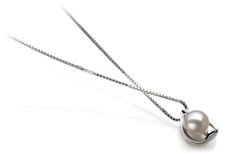 6-7mm AAAA-Qualität Süßwasser Perlenanhänger in Merle Weiß