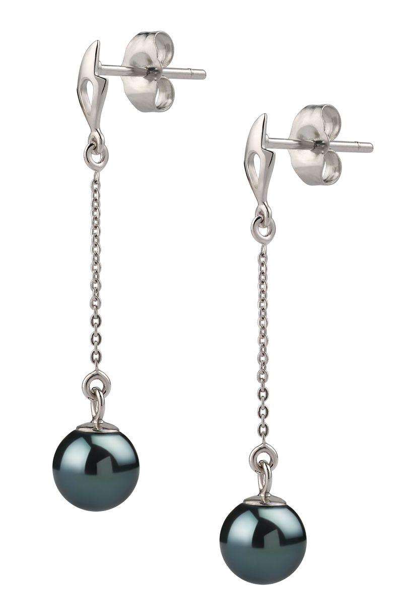 PearlsOnly - Paar Ohrringe mit schwarzen, 6-7mm großen Janischen Akoya Perlen in AA-Qualität , Michelle