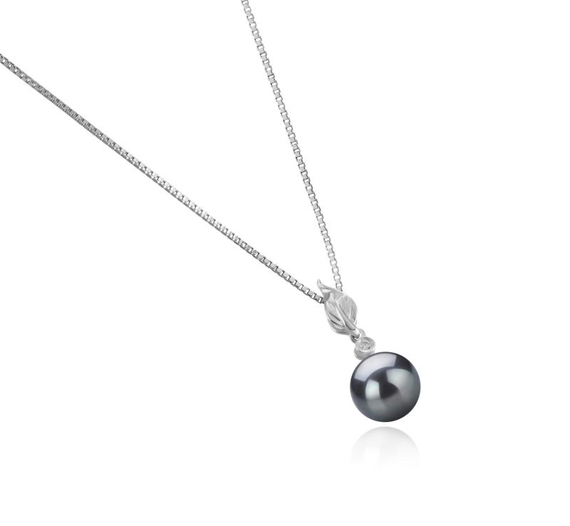 8-9mm AAAA-Qualität Süßwasser Perlenanhänger in Miriah Schwarz