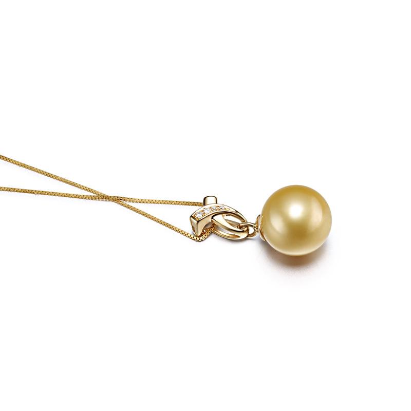 10-11mm AAA-Qualität Südsee Perlenanhänger in Monica Gold