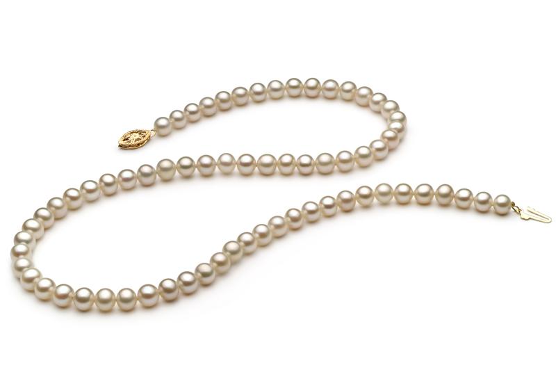 5.5-6mm AAA-Qualität Süßwasser Perlenhalskette in Nayka Weiß