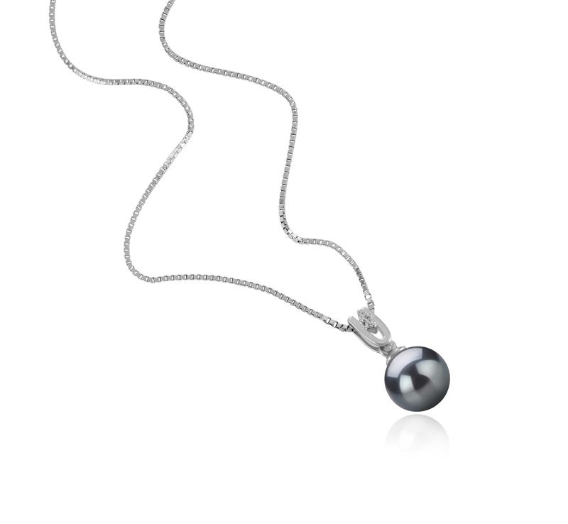 8-9mm AAAA-Qualität Süßwasser Perlenanhänger in Nerea Schwarz