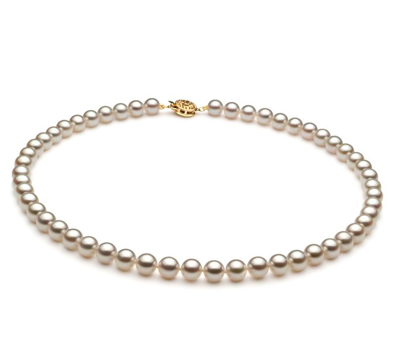 PearlsOnly - Set mit weißer, 6.5-7mm großer Japanischer Akoya Perle in AAA-Qualität , Noelia