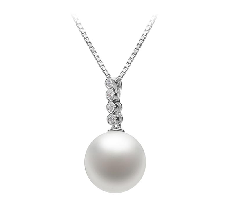10-11mm AAAA-Qualität Süßwasser Perlenanhänger in Ross Weiß