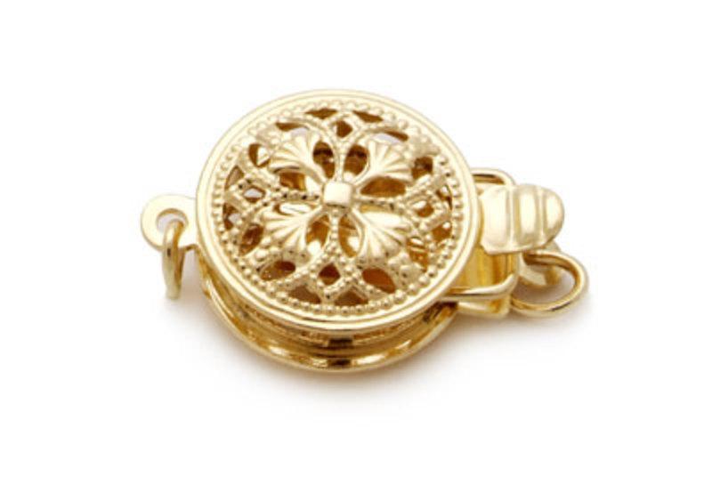 Halskette mit goldfarbenen, 9.5-11.9mm großen Südseeperlen in AA-Qualität , 18-Zoll