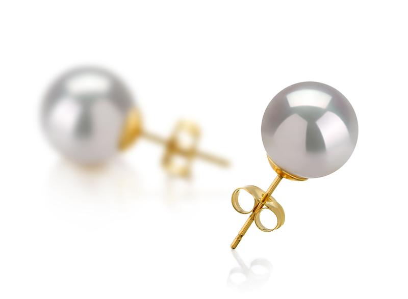 PearlsOnly - Paar Ohrringe mit weißen, 10-11mm großen Südseeperlen in AAA-Qualität