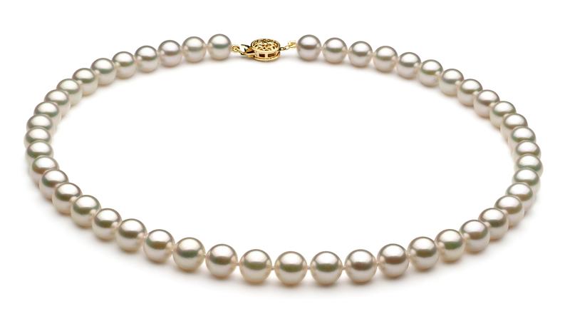 7.5-8mm AAA-Qualität Japanische Akoya Perlen Set in Saphrina Weiß