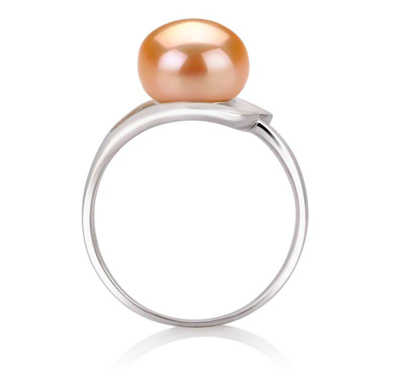 PearlsOnly - Ring mit rosafarbenen, 9-10mm großen Süßwasserperlen in AA-Qualität , Sonja