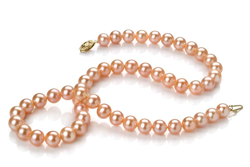 7-8mm AA-Qualität Süßwasser Perlen Set in Talisha Rosa