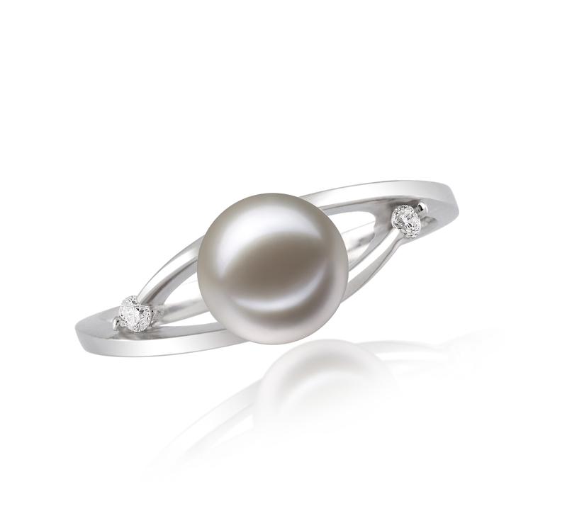 Ring mit weißen, 6-7mm großen Süßwasserperlen in AAAA-Qualität , Tanya