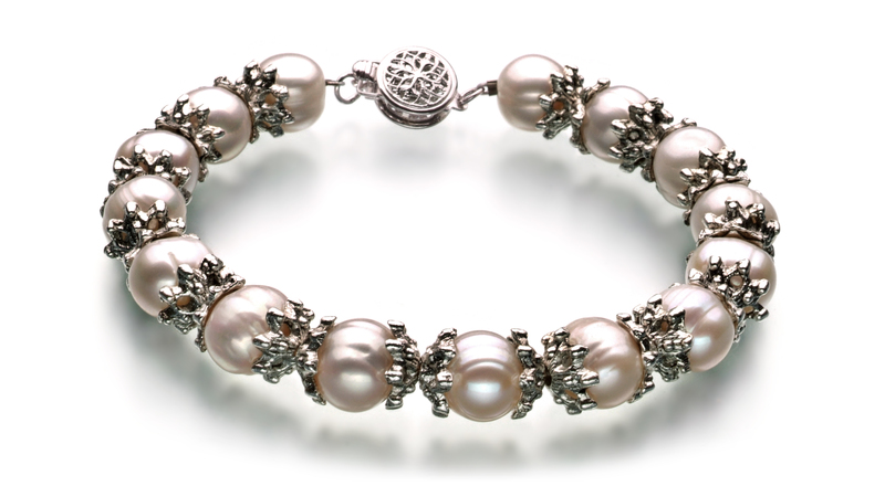 8-9mm A-Qualität Süßwasser Perlen Set in Tatiana Weiß