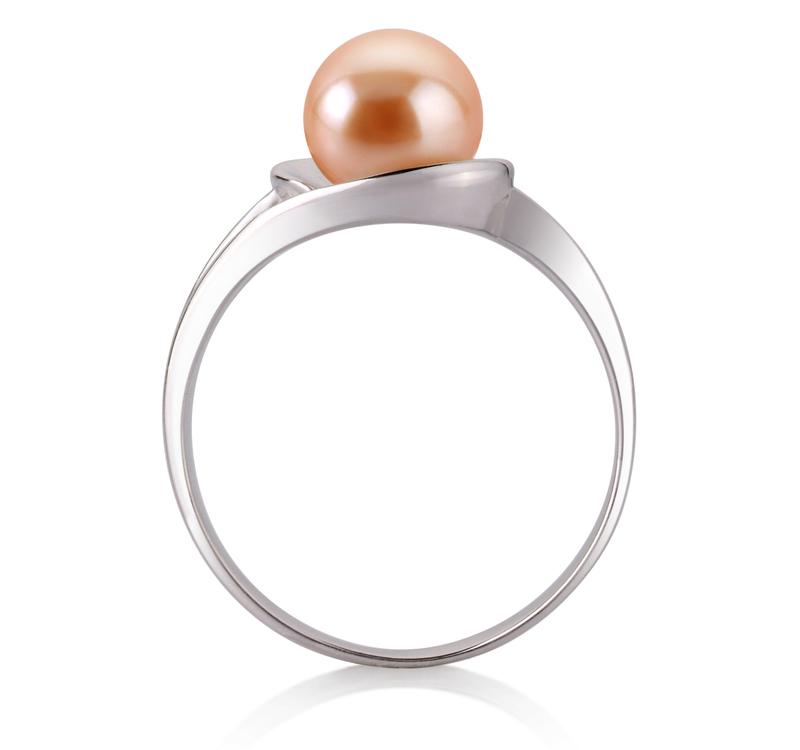 PearlsOnly - Ring mit rosafarbenen, 6-7mm großen Süßwasserperlen in AAA-Qualität , Wenke