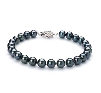 PearlsOnly - Armreifen mit schwarzen, 6.5-7mm großen Janischen Akoya Perlen in AA-Qualität , Adele