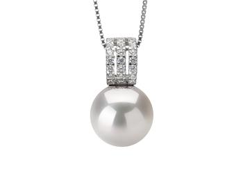 12-13mm AA+-Qualität Süßwasser - Edison Perlenanhänger in Colette Weiß