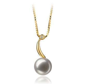 PearlsOnly - Anhänger mit weißen, 8-9mm großen Janischen Akoya Perlen in AAA-Qualität , Anne