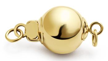 Verschluss Ball - 14k Gelbgold