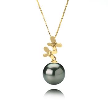 10-10.5mm AAA-Qualität Tahitisch Perlenanhänger in Barbara Schwarz