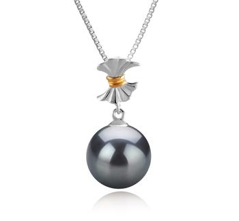 9-10mm AAA-Qualität Tahitisch Perlenanhänger in Belva Schwarz