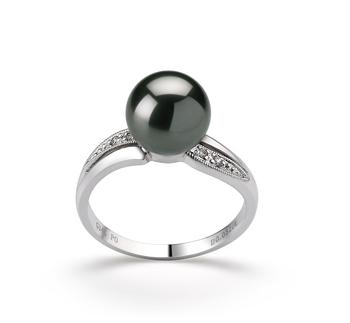 8-9mm AAA-Qualität Tahitisch Perlenringe in Caroline Schwarz