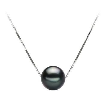 PearlsOnly - Anhänger mit schwarzen, 8-9mm großen Tihitianischen Perlen in AA-Qualität , Christina
