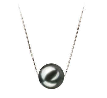10-11mm AA-Qualität Tahitisch Perlenanhänger in Christina Schwarz