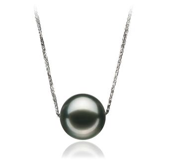 Anhänger mit schwarzen, 12-13mm großen Tihitianischen Perlen in AA-Qualität , Christina
