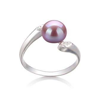 PearlsOnly - Ring mit lavendelfarbenen, 6-7mm großen Süßwasserperlen in AAA-Qualität , Dana