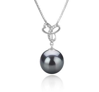 Anhänger mit schwarzen, 10-11mm großen Tihitianischen Perlen in AAA-Qualität , Dorothy